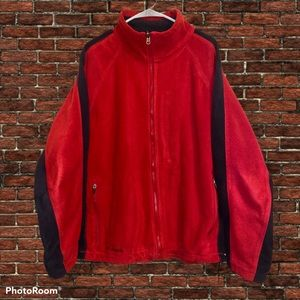 Columbia Sportswear Mens Red/Black Full Zip Fleece